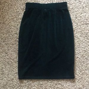 Hunter Green Velvet Agnes & Dora Pencil Skirt